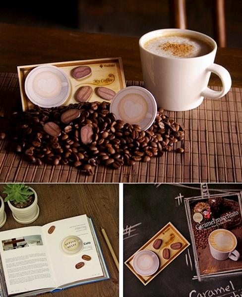 Тематические кофейные стикеры