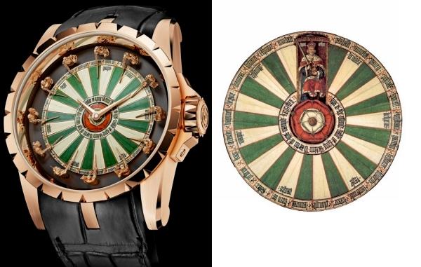Excalibur Table Ronde, часы рыцарей круглого стола