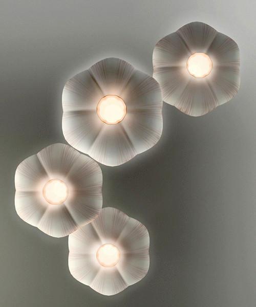 Оригинальный чесночный светильник Garlic Lamp, дизайнер Антон Населевец (Anton Naselevets)