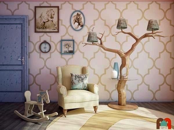 Дерево в гостиной.  Светильник My Treem от компании Fajno