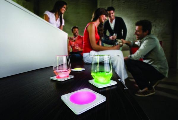 Нарядные подстаканники Philips Lumiware Coasters со светодиодной подсветкой