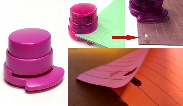 Go-Go Staple Less Stapler: экономный степлер, работающий без скоб