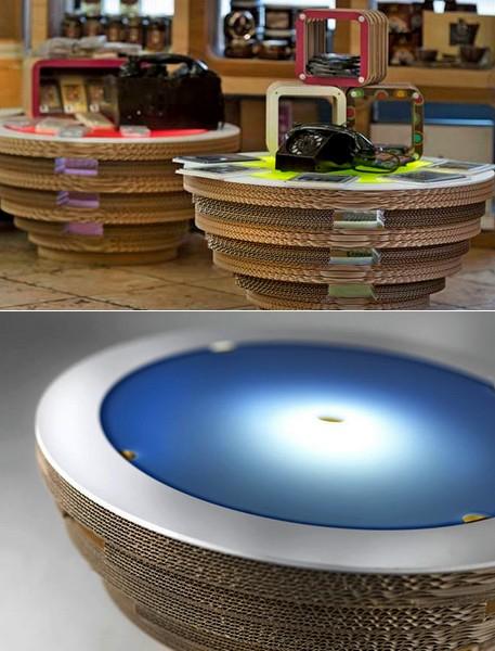 Стол-светильник Tappo из картона