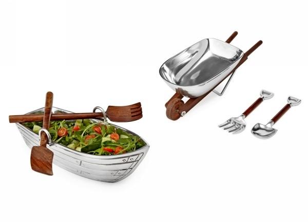 Оригинальные салатницы Row Boat Salad Bowl и Wheelbarrow Salad Bowl