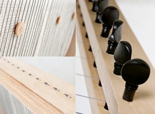 Музыкальное дизайнерское кресло -инструмент Echoism Chair