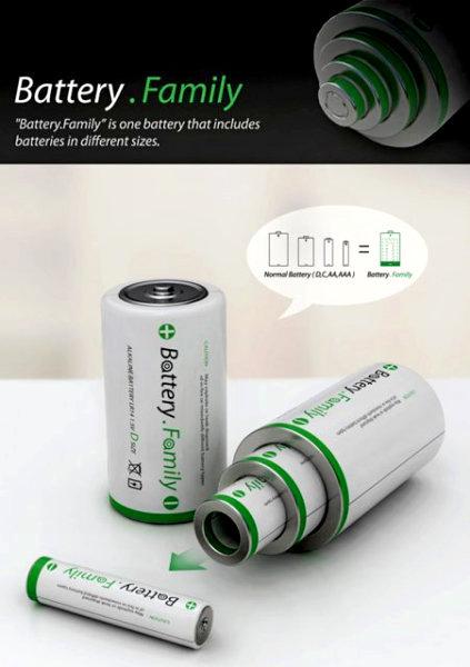 Универсальная батарейка-матрешка Battery.Family