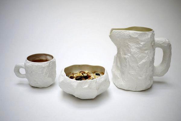 Crockery, помятая керамическая посуда от Max Lamb
