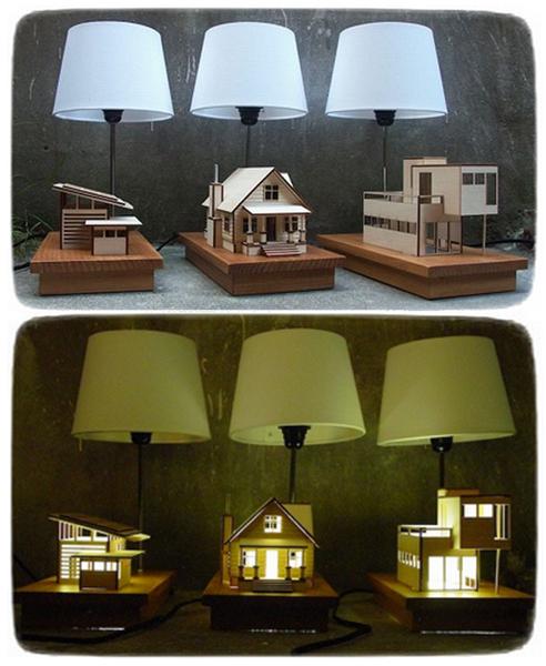 House-Lamp, уютный домашний светильник от Lauren Daley
