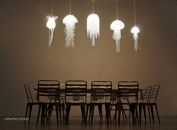 Лампы-медузы от Roxy Russell в коллекции Jellyfish Lamps