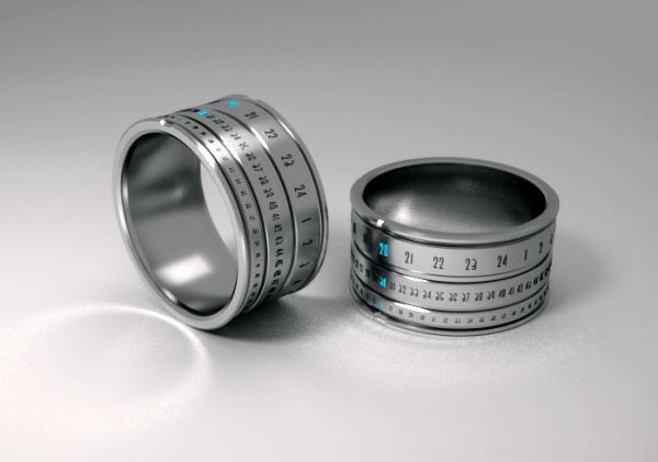Ring Clock: концептуальные часы в виде механического колечка