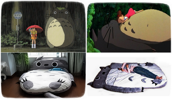 Кровать-подушка Totoro Bed в честь аниме My Neighbor Totoro