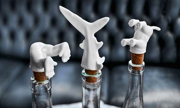 Wine Diver Bottle Stoppers. Необычные пробки для бутылок с вином