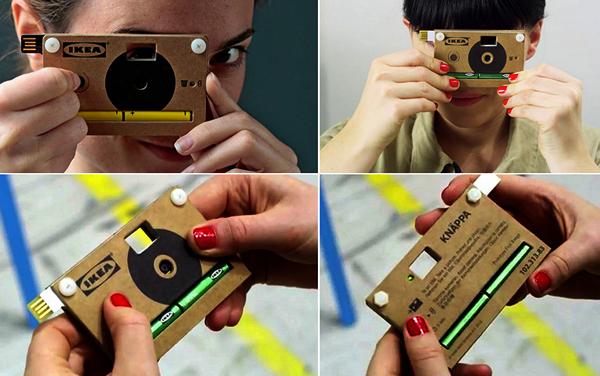 KNAPPA, картонный эко-фотоаппарат от IKEA