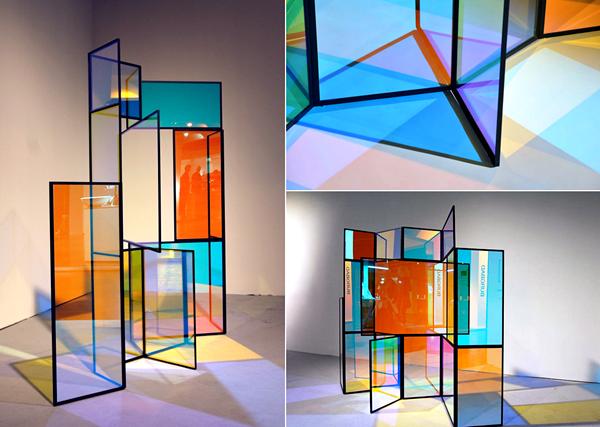 Креативная ширма из дихроичного стекла, проект Камиллы Рихтер (Camilla Richter)