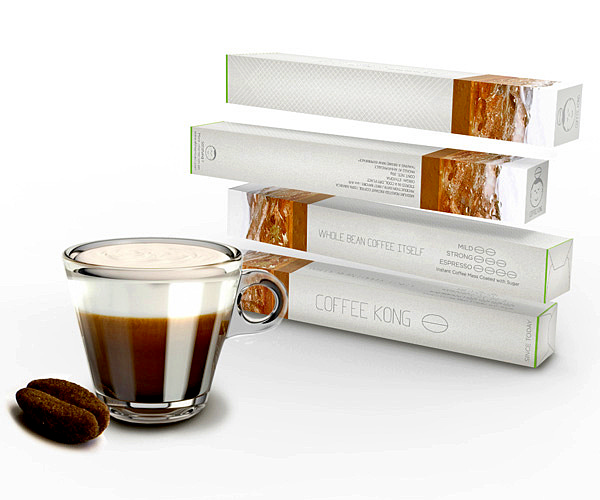 Coffee Kong. Растворимый кофе в зернах