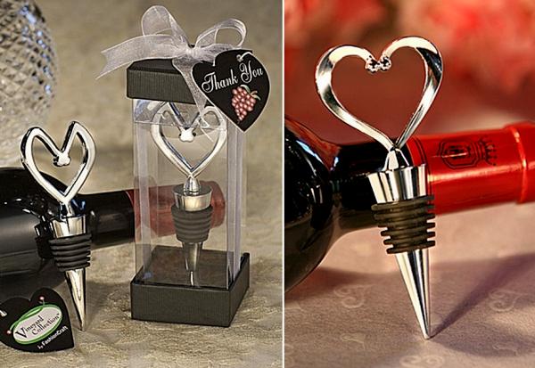 Романтичные пробки для свадебных бутылок