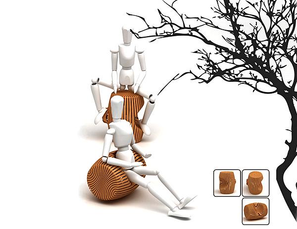Мультифункциональный стул *Enjoy sitting: Multi-function* для сидения в разных позах