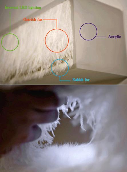 MEMORIVE lamp: концептуальная лампа-полочка для дома
