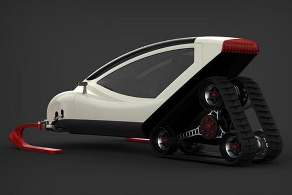 Snowmobile - концепт снегохода будущего от Michal Bonikowski