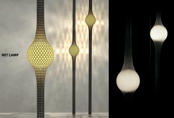 Net Lamp: лампа в сетке от Ryosuke Fukusada