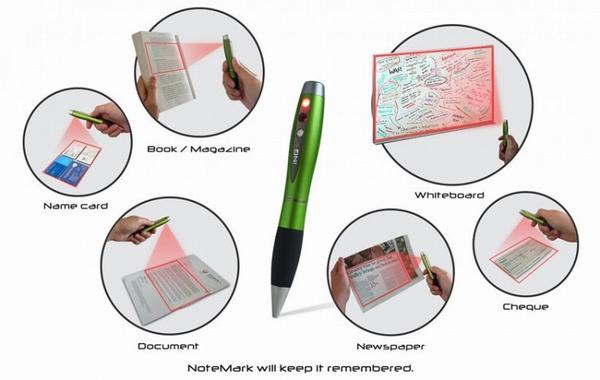 Сканирование шариковой ручкой NoteMark