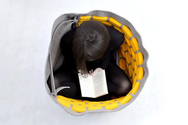 Дизайнерское кресло Snug в виде многофункционального мешка