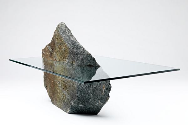 Archipelago II, стеклянно-каменный стол от Eagle Wolf Orca