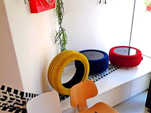 Мебель из старых шин. Дизайн-проект Tavomatico от Giacomo Mondini