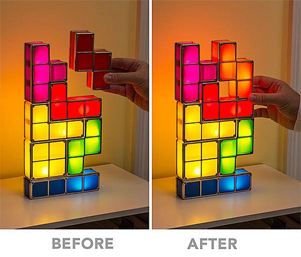 Tetrominos: лампа-конструктор от компании Paladone
