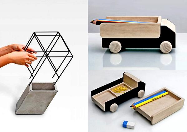 Workaholic: настольные аксессуары из бетона и дерева от THINKK Studio