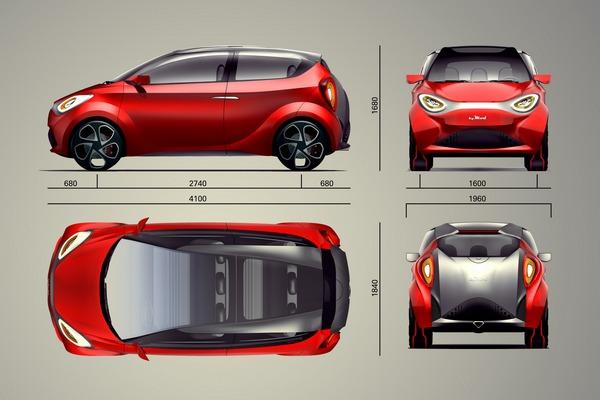SCI hyMod: идеальные габариты городского автомобиля