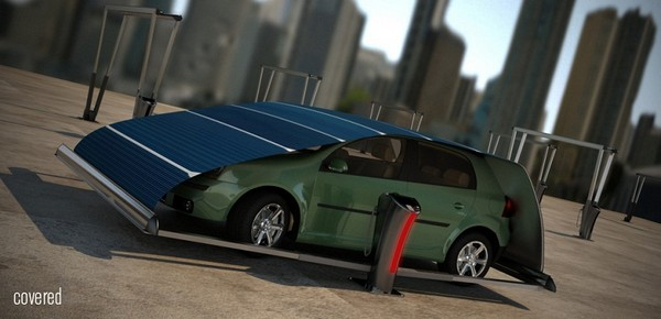 V-Tent – солнечная парковка для электромобиля