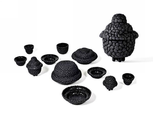 Black Ruby: посуда из старых покрышек от Debbie Wijskamp