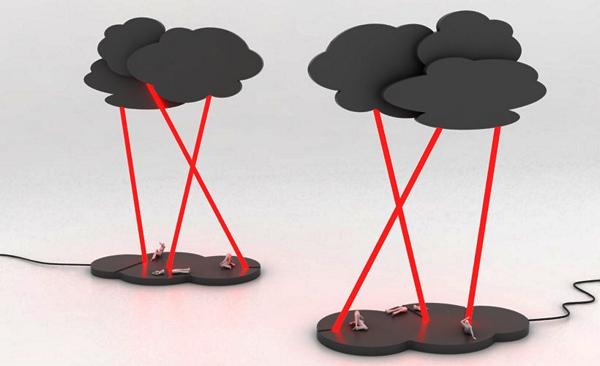 Cloud lights. Концептуальные светильники с легендой, моралью и молнией