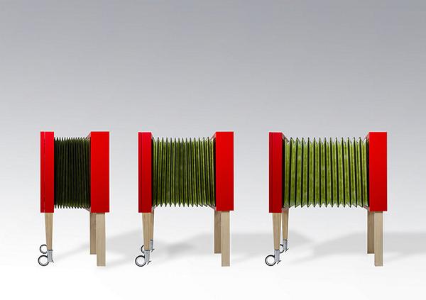 Растягивающаяся мебель-гармошка Milonga