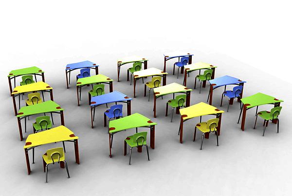 Synthesis Desk: школьные парты для индивидуальной и коллективной работы