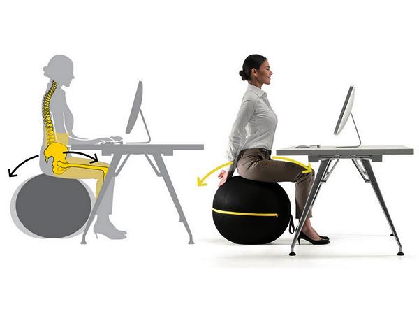 Wellness Ball chair: кресло-тренажер от Technogym