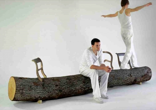 Tree trunk Bench от Jurgen Bey