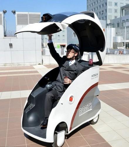 Hitachi Ropits – миниатюрный электромобиль под управлением смартфона