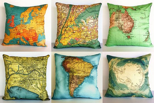 Map Cushions – подушки для путешественников