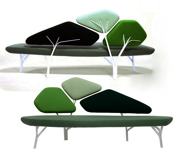 Borghese sofa: диван-дерево в современном интерьере