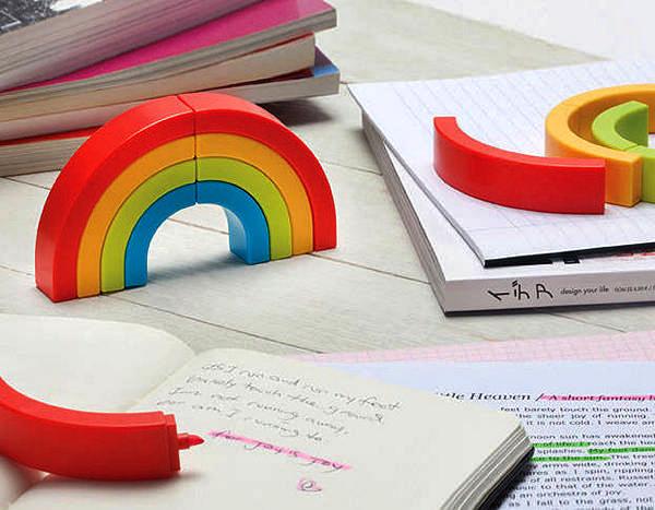 Маркеры-радуга. Rainbow Highlighter Pens от Ototo Design