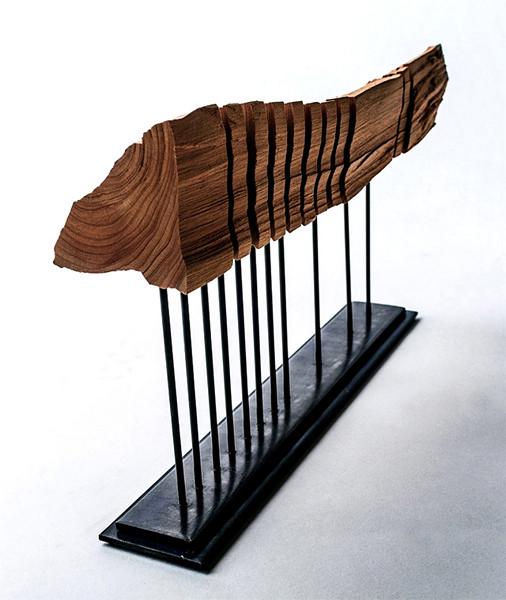 Креативные светильники-скульптуры Split Grain из кипариса