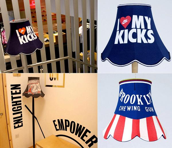 Модные абажуры T-Lights Collection из старых футболок