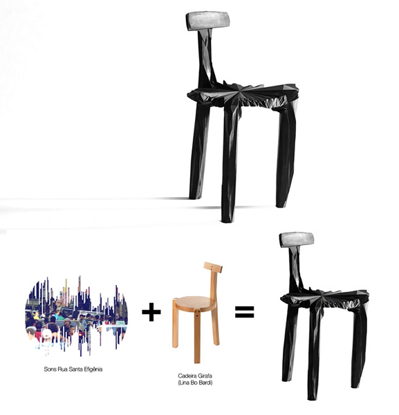 *Шумные* стулья Noize chairs от Estudio Guto Requena