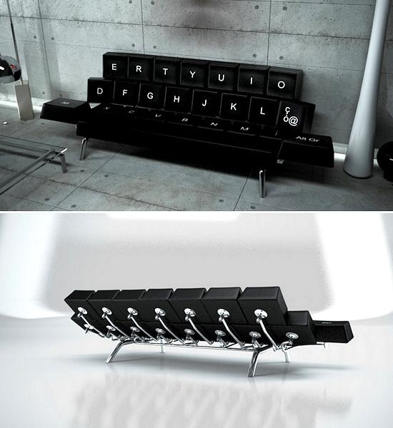 QWERTY Keyboard Sofa Bed, диван-клавиатура от ZO_loft