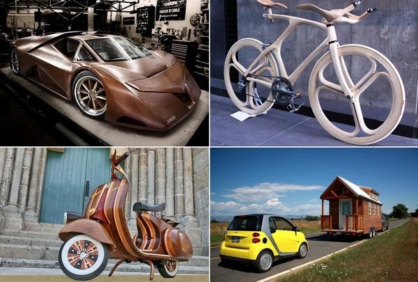 Самые необычные в мире деревянные транспортные средства