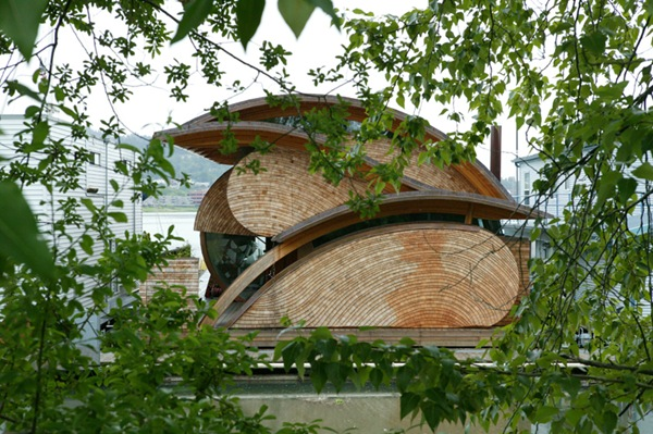 Fennell Residence – дом на воде из дерева
