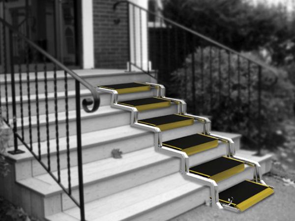 Convertible – складывающийся пандус для узких лестниц
