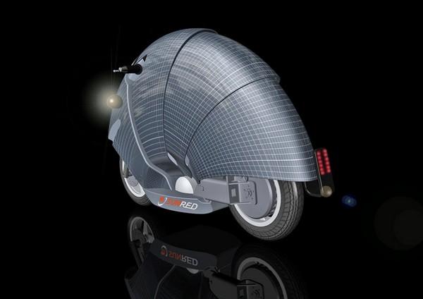 Lune – мотоцикл на солнечных батареях